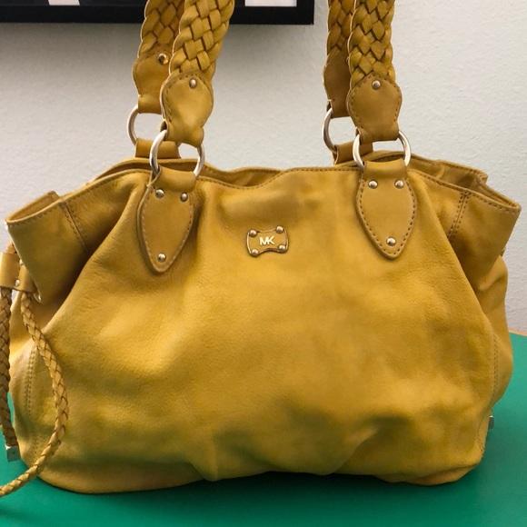 Michael Kors Handbags - Michael Kors Tellow Leather Large Shoulder Handbag